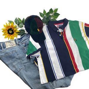 Vintage Chaps Ralph Lauren Color block polo shirt